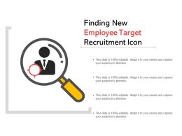 Finding New Employee Target Recruitment Icon