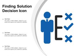 Finding Solution Decision Icon