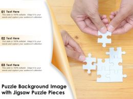 Finding Solution Image With Puzzle Background