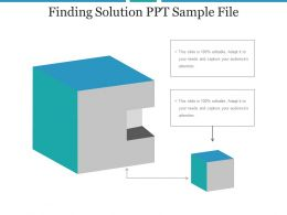 Finding Solution Ppt Sample File