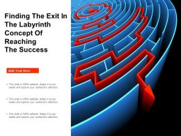 Finding The Exit In The Labyrinth Concept Of Reaching The Success