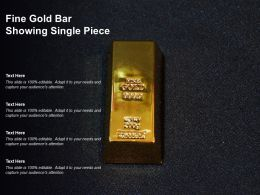 Fine Gold Bar Showing Single Piece