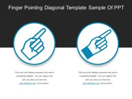 Finger Pointing Diagonal Template Sample Of Ppt
