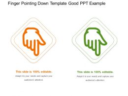 Finger Pointing Down Template Good Ppt Example