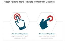Finger Pointing Here Template Powerpoint Graphics