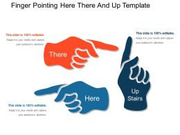 Finger Pointing Here There And Up Template Powerpoint Guide