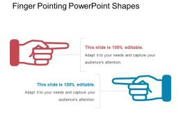 Finger Pointing Powerpoint Shapes