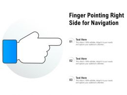 Finger Pointing Right Side For Navigation