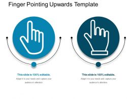 Finger Pointing Upwards Template Powerpoint Layout
