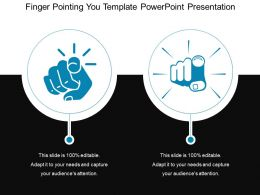 Finger Pointing You Template Powerpoint Presentation