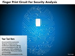 Finger Print Circuit For Security Analysis Ppt Slides