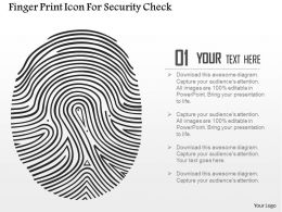 finger_print_icon_for_security_check_ppt_slides_Slide01