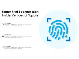Finger Print Scanner Icon Inside Vertices Of Square