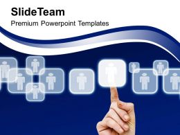 Finger Pushing Button On Touch Screen Powerpoint Templates PPT Themes And Graphics 0113