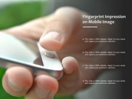 Fingerprint Impression On Mobile Image