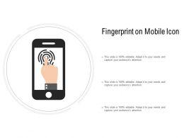 Fingerprint On Mobile Icon