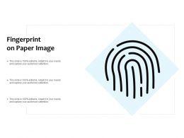 Fingerprint On Paper Image