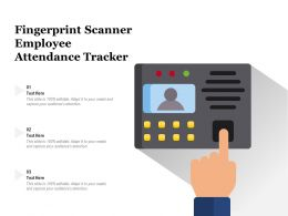 Fingerprint Scanner Employee Attendance Tracker