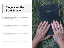Fingers On The Book Image