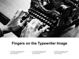 Fingers On The Typewriter Image