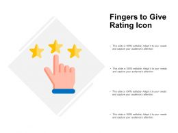 Fingers To Give Rating Icon