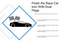 Finish The Race Car Icon With Dual Flags