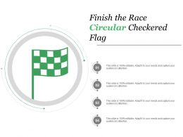 Finish The Race Circular Checkered Flag