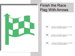 Finish The Race Flag With Arrows