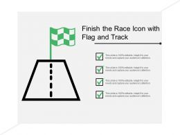 Finish The Race Icon With Flag And Track