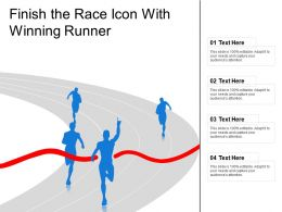 Finish The Race Icon With Winning Runner