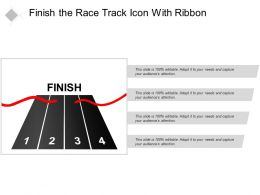 Finish The Race Track Icon With Ribbon