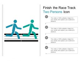 Finish The Race Track Two Persons Icon