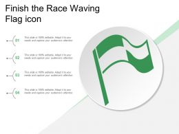 Finish The Race Waving Flag Icon