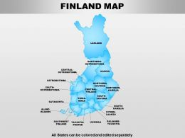 Finland Powerpoint Maps