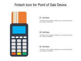 Fintech Icon For Point Of Sale Device