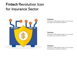 Fintech Revolution Icon For Insurance Sector