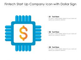 Fintech Start Up Company Icon With Dollar Sign