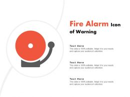 Fire Alarm Icon Of Warning