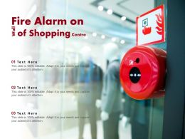 Fire Alarm On Wall Of Shopping Centre