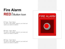 Fire Alarm Red Push Button Icon