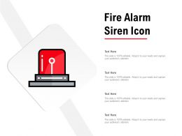 Fire Alarm Siren Icon