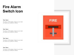 Fire Alarm Switch Icon
