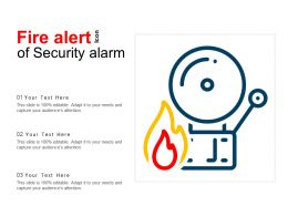 Fire Alert Icon Of Security Alarm