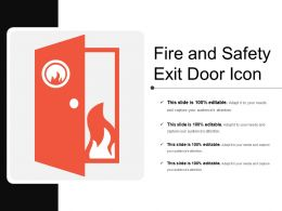 Fire And Safety Exit Door Icon
