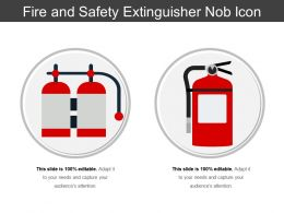 Fire And Safety Extinguisher Nob Icon