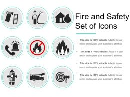 Fire And Safety Set Of Icons