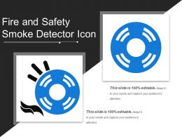 Fire And Safety Smoke Detector Icon