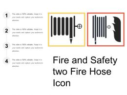 Fire And Safety Two Fire Hose Icon