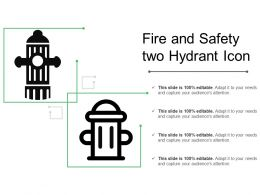 Fire And Safety Two Hydrant Icon