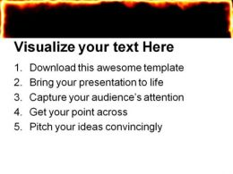 Fire Burning Frame Metaphor PowerPoint Templates And PowerPoint Backgrounds 0411